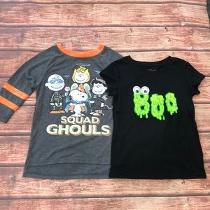 🔥 BOGO SALE Halloween Shirts Peanuts Girl's Xs